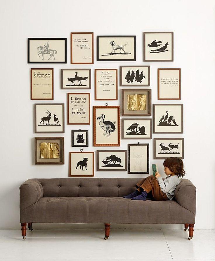 Inspiraci n y consejos para colgar cuadros en 10 pasos - Composicion cuadros pared ...
