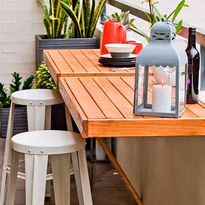 Trucos para poner a punto una terraza peque a en verano for Muebles para terraza pequena